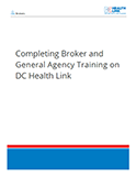 Completing Broker and General Agency Training on DC Health Link